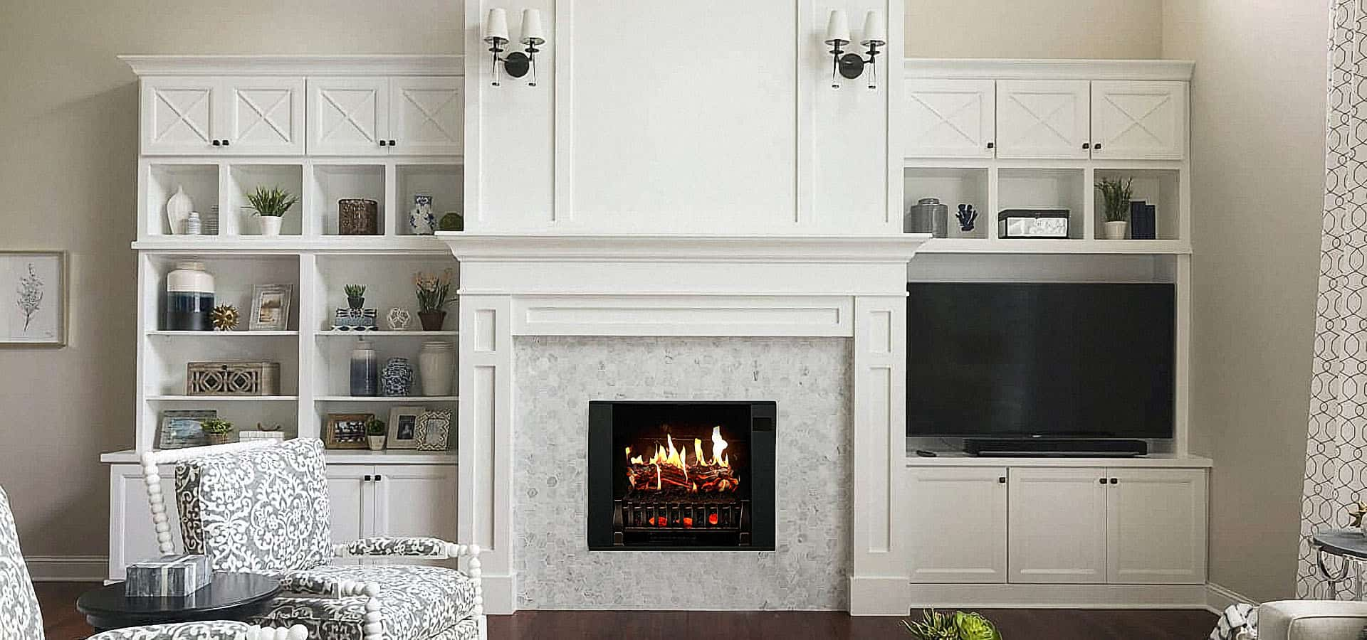 how to turn on electric fireplace