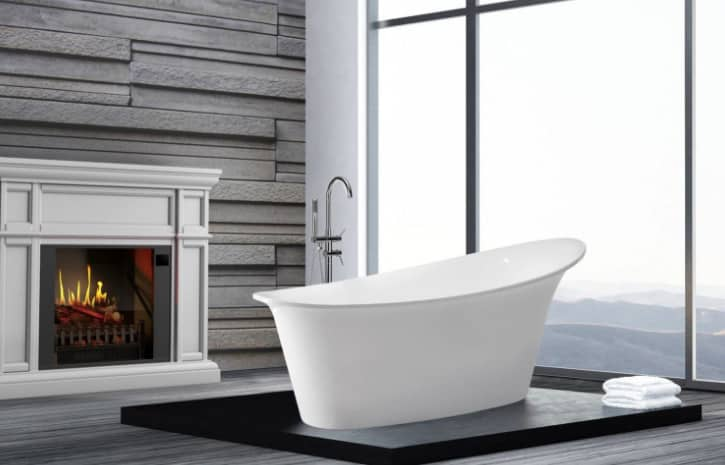 Can you put an electric fireplace in a bathroom