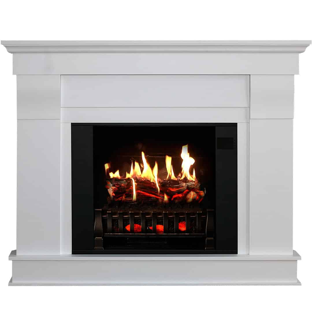 Corner Electric Fireplace with Mantel [ Buy Now ]   MagikFlame