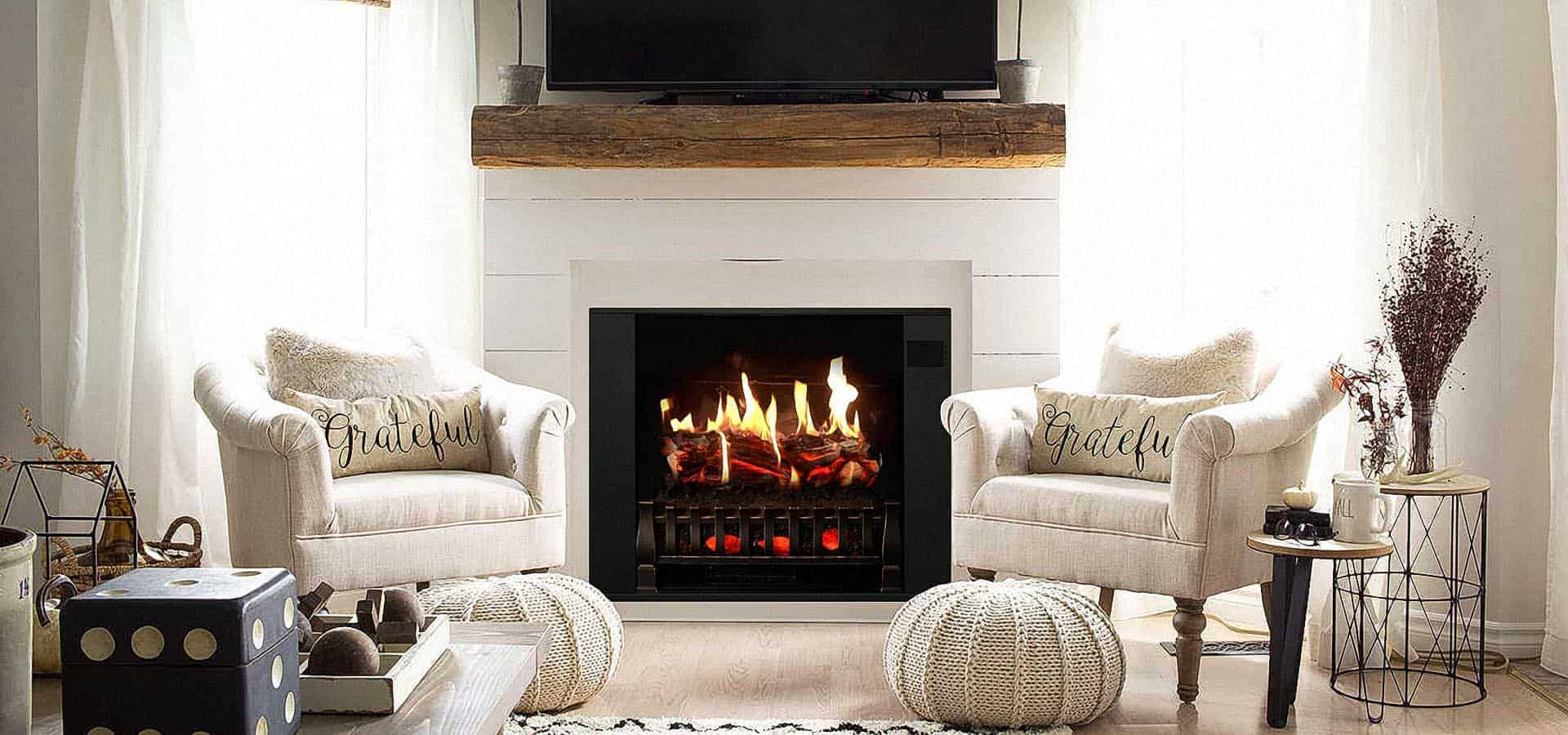 how odes an electric fireplace work