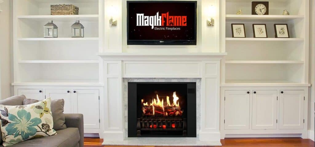 can a electric fireplace heat a house