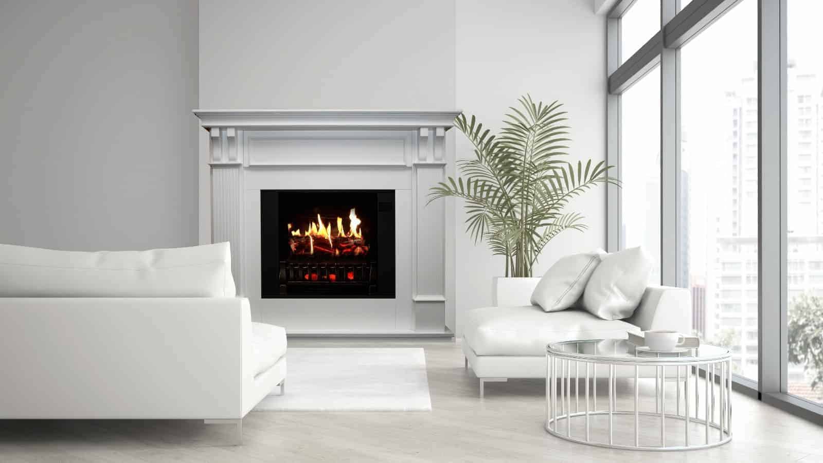 can an electric fireplace heat a house