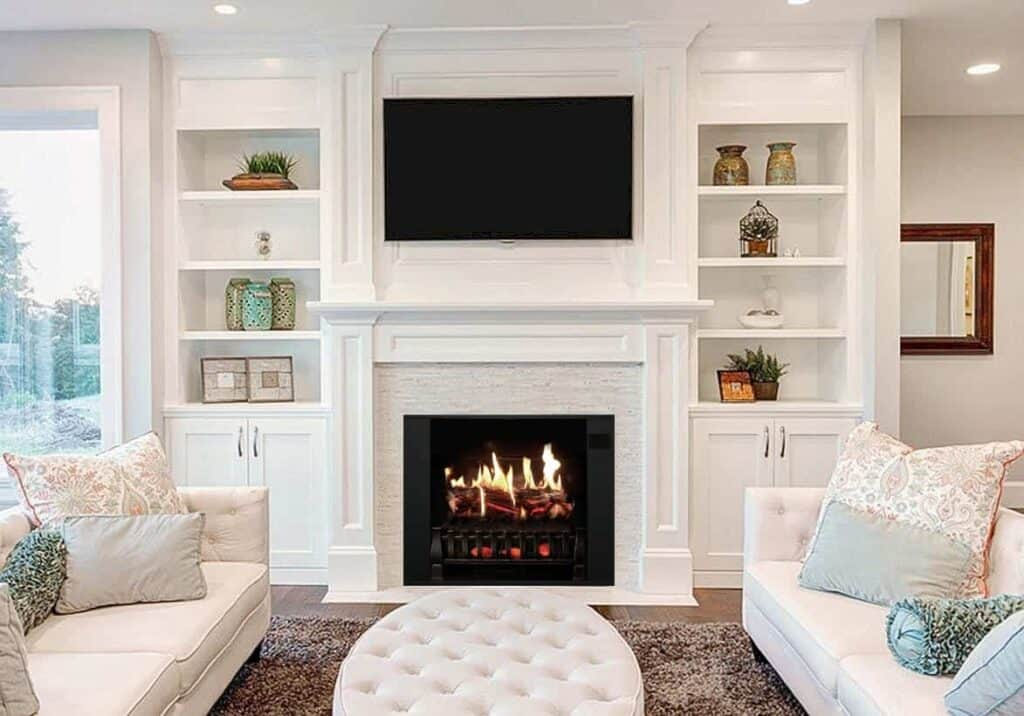 how does an electric fireplace put out heat