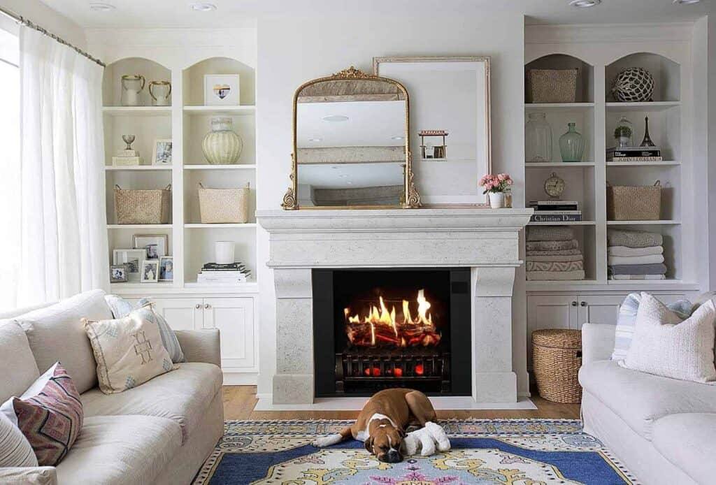 building a surround for an electric fireplace