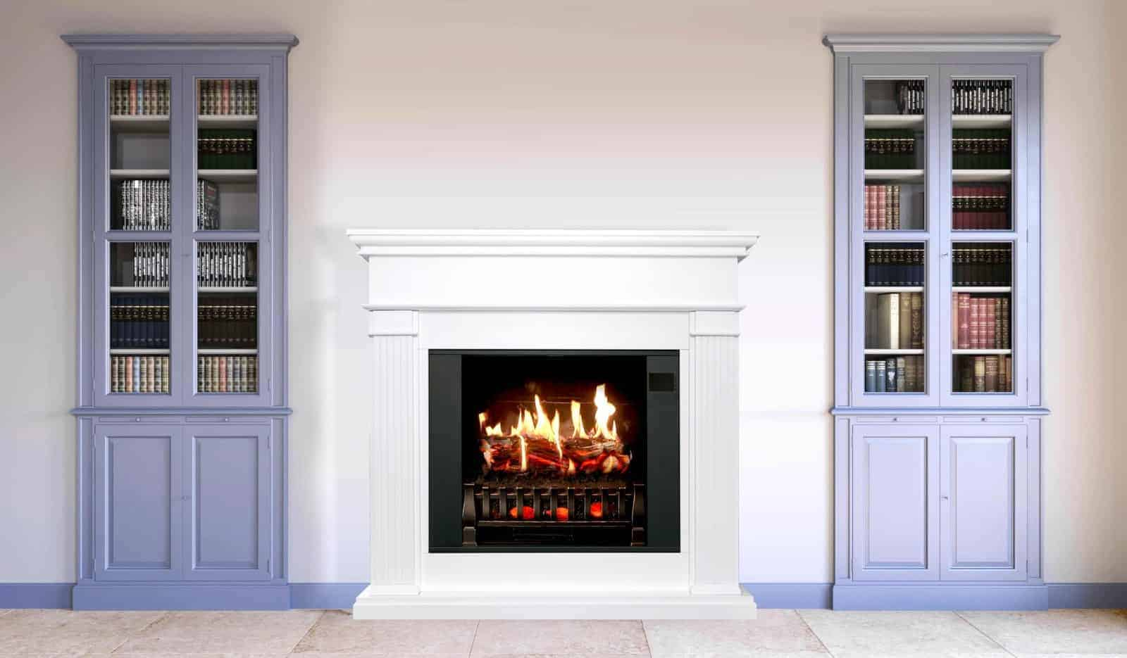 electric fireplace be used outdoors