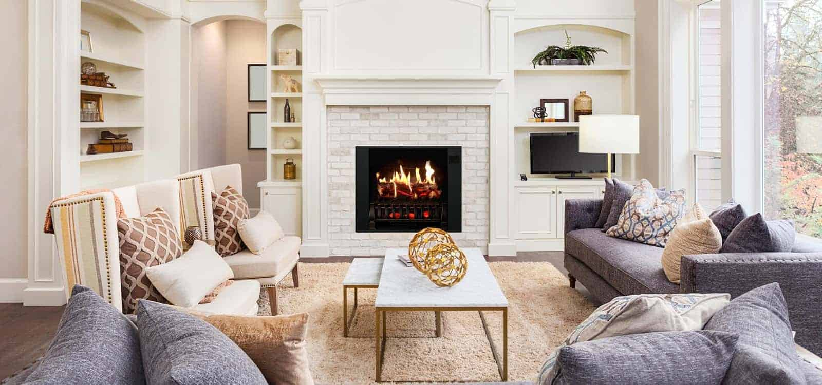 how to make your electric fireplace look real