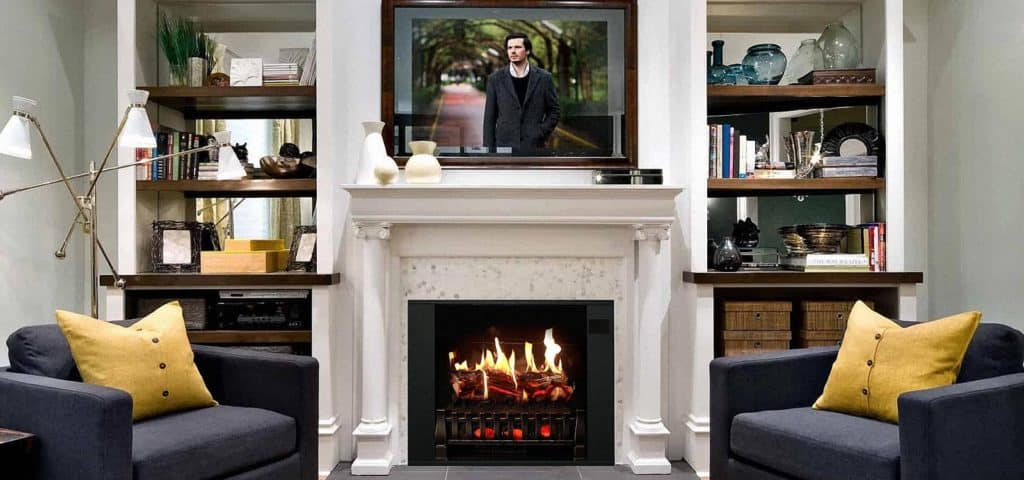 how to mount fireplace