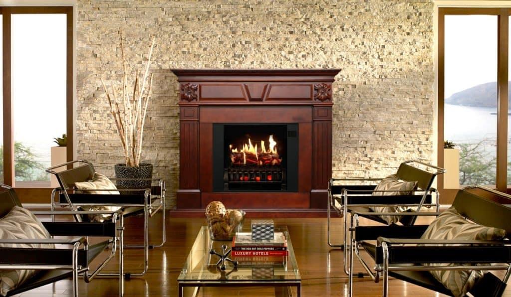 Built fireplace