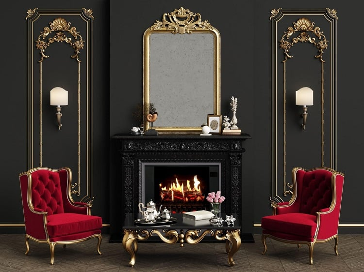 what electric Fireplace come in black