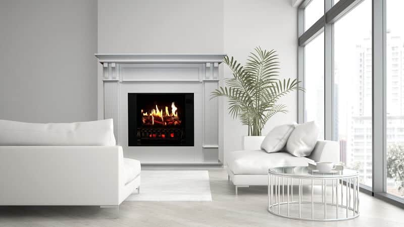 Lighiting White-Electric-Fireplace