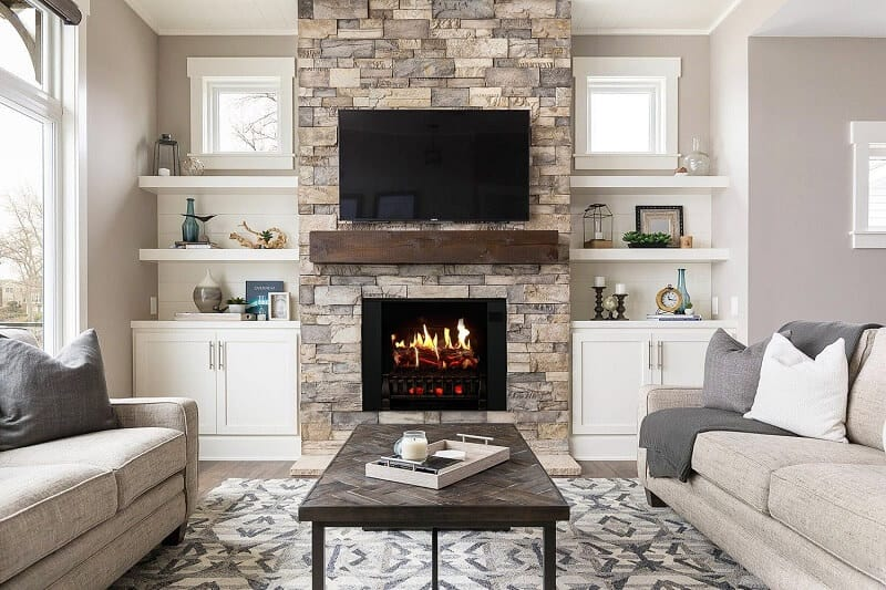 Lighting Showcases Electric fireplace
