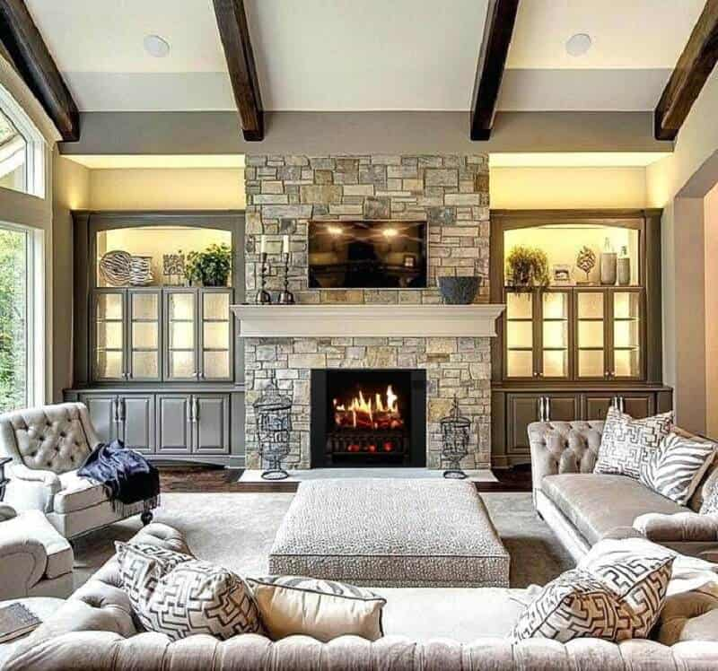 living room electric fireplace