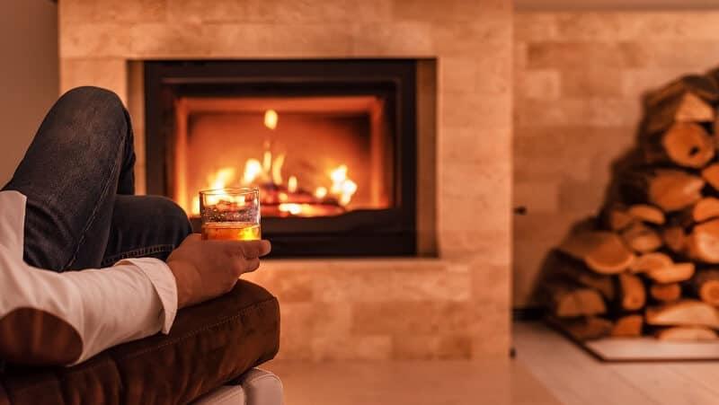 ventless gas fireplace heater