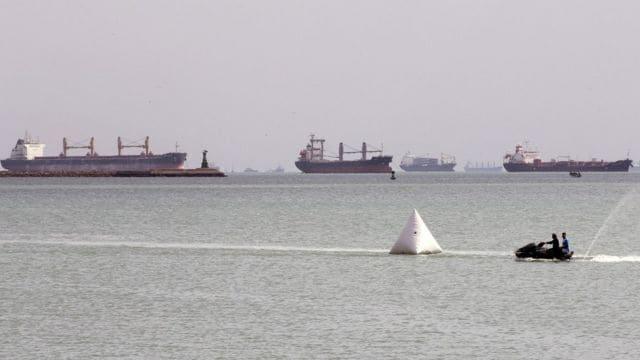 Cargo Ship Traffic Jam